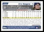 2004 Topps #260  Eric Gagne  Back Thumbnail