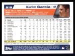 2004 Topps #519  Karim Garcia  Back Thumbnail