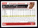 2004 Topps #538  D'Angelo Jimenez  Back Thumbnail