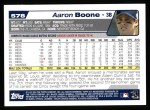 2004 Topps #578  Aaron Boone  Back Thumbnail