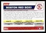2004 Topps #642   Boston Red Sox Team Back Thumbnail