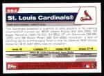 2004 Topps #664   St. Louis Cardinals Team Back Thumbnail