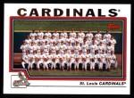 2004 Topps #664   St. Louis Cardinals Team Front Thumbnail