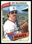 1980 Topps #384  Joey McLaughlin   Front Thumbnail