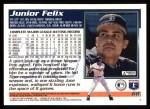 1995 Topps #68  Junior Felix  Back Thumbnail
