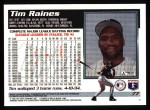 1995 Topps #77  Tim Raines  Back Thumbnail