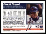 1995 Topps #101  David Segui  Back Thumbnail