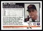 1995 Topps #107  Jim Poole  Back Thumbnail