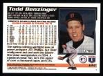 1995 Topps #124  Todd Benzinger  Back Thumbnail