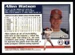 1995 Topps #262  Allen Watson  Back Thumbnail