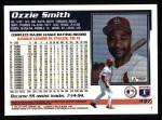 1995 Topps #347  Ozzie Smith  Back Thumbnail
