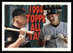 1995 Topps #386   -  Matt Williams  /  Wade Boggs All-Star Front Thumbnail