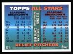 1995 Topps #394   -  John Franco / Lee Smith All-Star Back Thumbnail