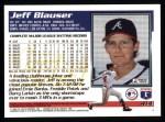 1995 Topps #414  Jeff Blauser  Back Thumbnail