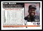 1995 Topps #425  Lee Smith  Back Thumbnail