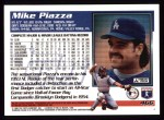 1995 Topps #466  Mike Piazza  Back Thumbnail