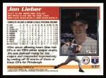 1995 Topps #537  Jon Lieber  Back Thumbnail