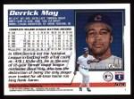 1995 Topps #579  Derrick May  Back Thumbnail
