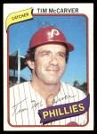 1980 Topps #178  Tim McCarver  Front Thumbnail