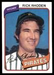 1980 Topps #92  Rick Rhoden  Front Thumbnail