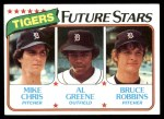 1980 Topps #666   -  Mike Chris / Al Greene / Bruce Robbins  Tigers Rookies Front Thumbnail