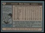 1980 Topps #239  Don Aase  Back Thumbnail