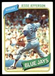 1980 Topps #467  Jesse Jefferson  Front Thumbnail