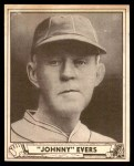 1940 Play Ball #174  Johnny Evers  Front Thumbnail