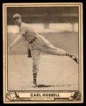 1940 Play Ball #87  Carl Hubbell  Front Thumbnail