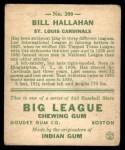 1933 Goudey #200  Bill Hallahan  Back Thumbnail