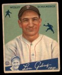 1934 Goudey #54  Wesley Schulmerich  Front Thumbnail
