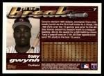 1995 Topps Traded #7 T Tony Gwynn  Back Thumbnail