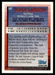1995 Topps Traded #12 T Juan LeBron  Back Thumbnail
