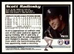 1995 Topps Traded #71 T Scott Radinsky  Back Thumbnail