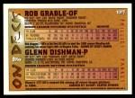 1995 Topps Traded #107 T Glenn Dishman  Back Thumbnail