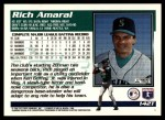 1995 Topps Traded #142 T Rich Amaral  Back Thumbnail