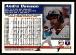 1995 Topps Traded #155 T Andre Dawson  Back Thumbnail