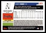 2006 Topps Update #76  Danys Baez  Back Thumbnail