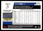 2006 Topps Update #103  Aaron Sele  Back Thumbnail