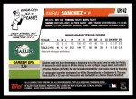 2006 Topps Update #142  Anibal Sanchez  Back Thumbnail