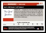 2006 Topps Update #171   -  Alex Rodriguez Season Highlights Back Thumbnail