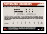 2006 Topps Update #199   -  Chris Carpenter Postseason Highlights Back Thumbnail
