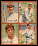 1935 Goudey  Al Spohrer / Flint Rhem / Ben Cantwell / Larry Benton  Front Thumbnail