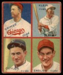 1935 Goudey  Kiki Cuyler / Chuck Klein / Woody English / Burleigh Grimes  Front Thumbnail