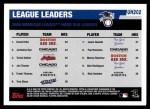 2006 Topps Update #202   -  David Ortiz / Jermaine Dye / Travis Hafner AL HR Leaders Back Thumbnail