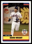 2006 Topps Update #232   -  David Wright All-Star Front Thumbnail