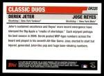 2006 Topps Update #326  Derek Jeter / Jose Reyes  Back Thumbnail