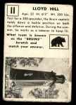 1951 Topps Magic #11  Lloyd Hill  Back Thumbnail