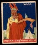 1933 Goudey Indian Gum #210   Wood  Front Thumbnail