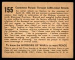 1938 Gum Inc. Horrors of War #155   Cantonese Parade through Coffin-lined Streets Back Thumbnail